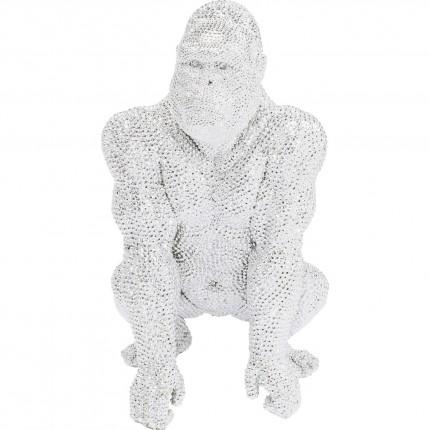 Déco gorille strass argentés 80cm Kare Design