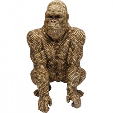 Déco gorille strass dorés 80cm Kare Design