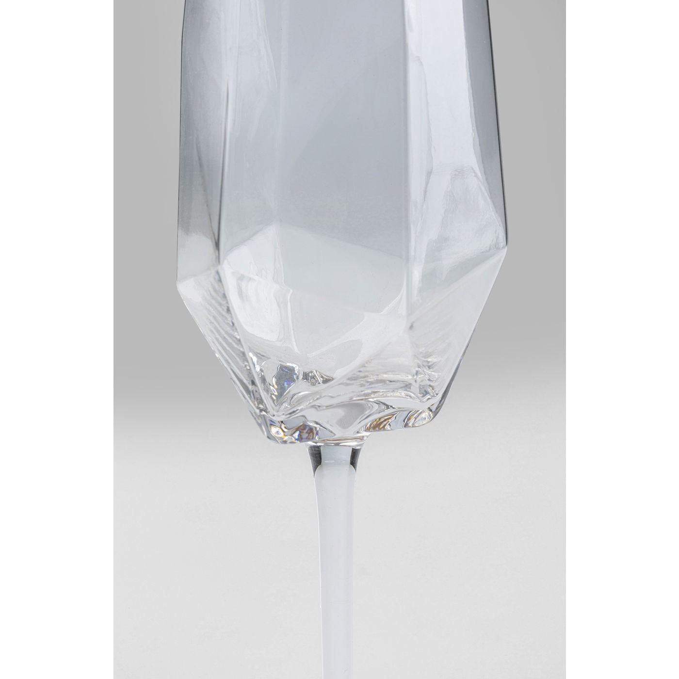 Flûtes à champagne Diamond doré set de 4 Kare Design
