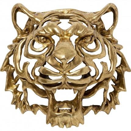 Déco murale tête lion dorée Kare Design