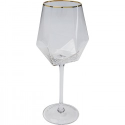 Verres à vin Diamond doré set de 6 Kare Design