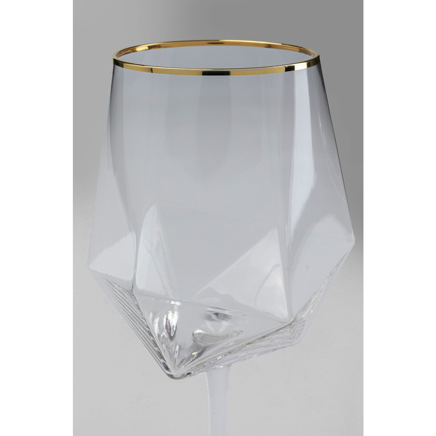 Verres à vin Diamond doré set de 6 Kare Design