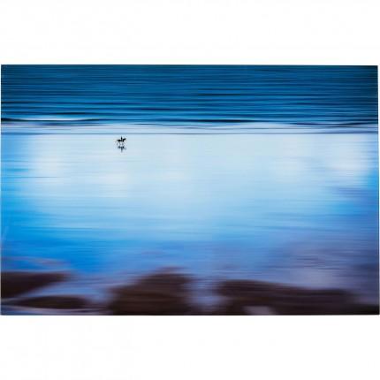 Tableau en verre Lonely Beach 120x80cm Kare Design