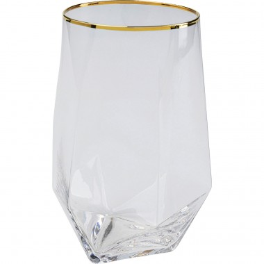 Verres à eau Diamond doré set de 6 Kare Design