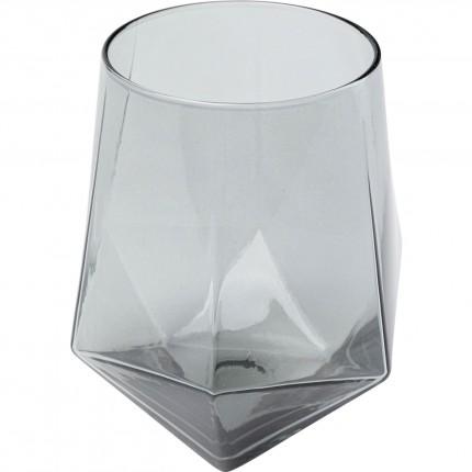 Verres à eau Diamond fumé set de 6 Kare Design