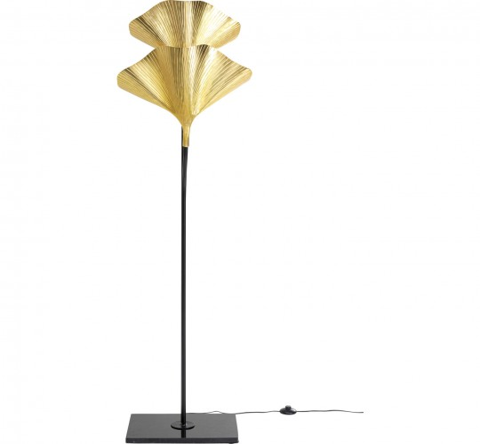 Lampadaire feuilles de ginkgo 172cm Kare Design