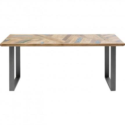 Table Abstract acier brut 180x90cm Kare Design