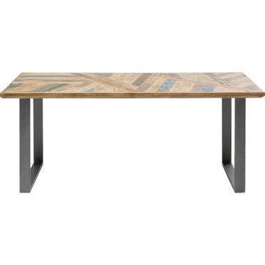 Table Abstract acier brut 180x90cm Kare Design