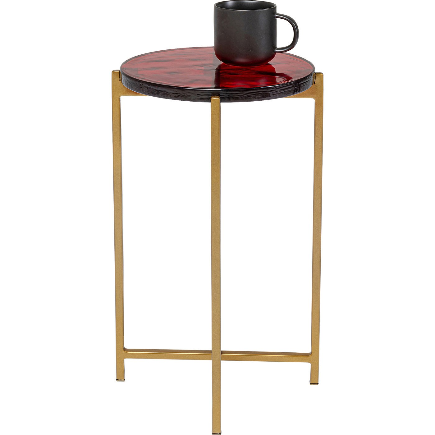 Table d'appoint Lagoon ronde 27cm rouge Kare Design