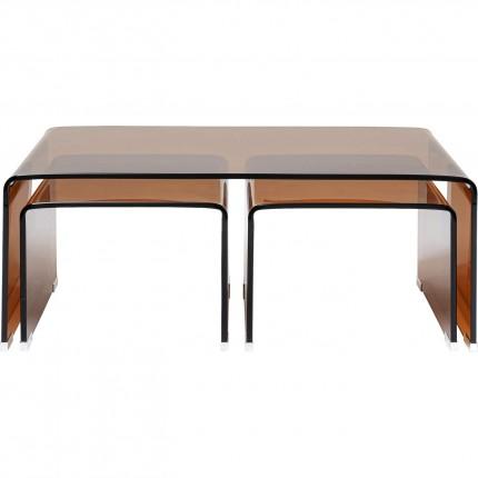 Tables basses Visible Amber set de 3 Kare Design
