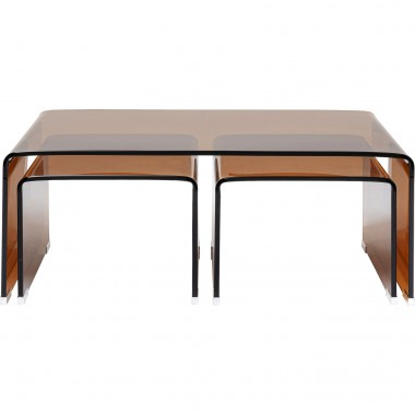 Tables basses Visible Amber set de 3 Kare Design
