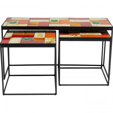 Tables d'appoint Lisboa set de 3 Kare Design