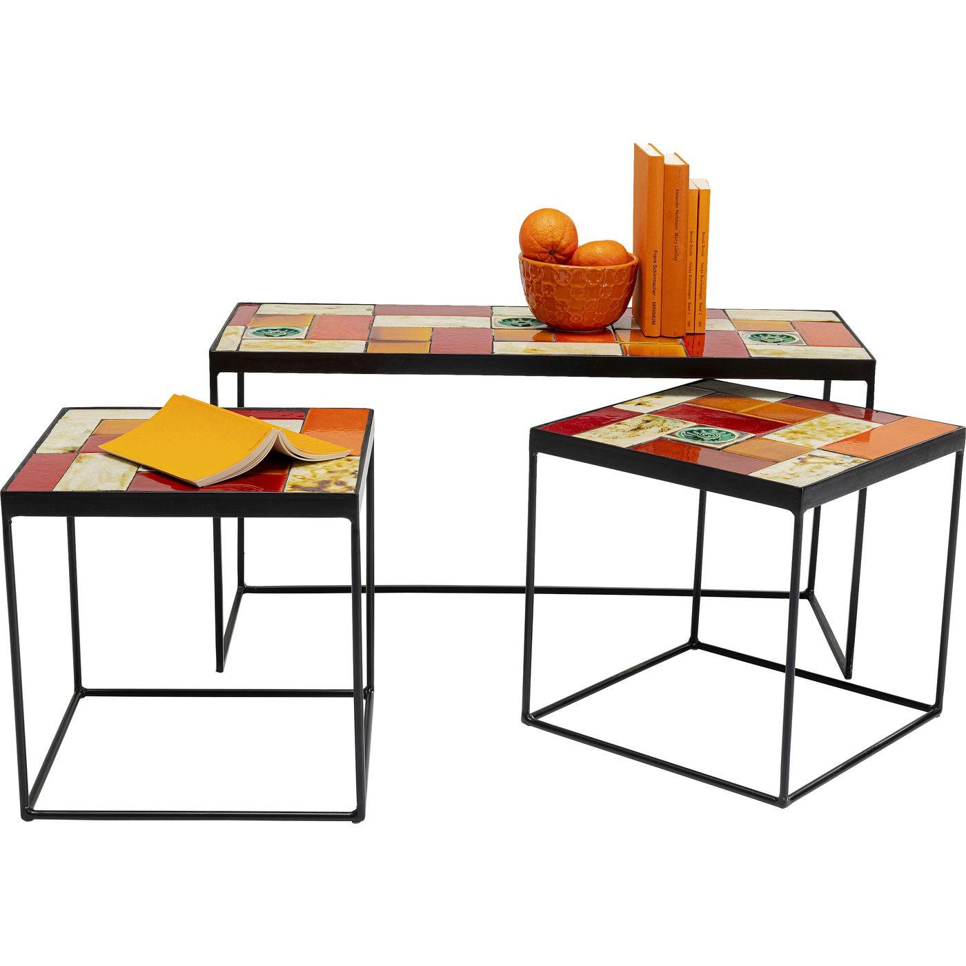 Tables basses Lisboa set de 3 Kare Design