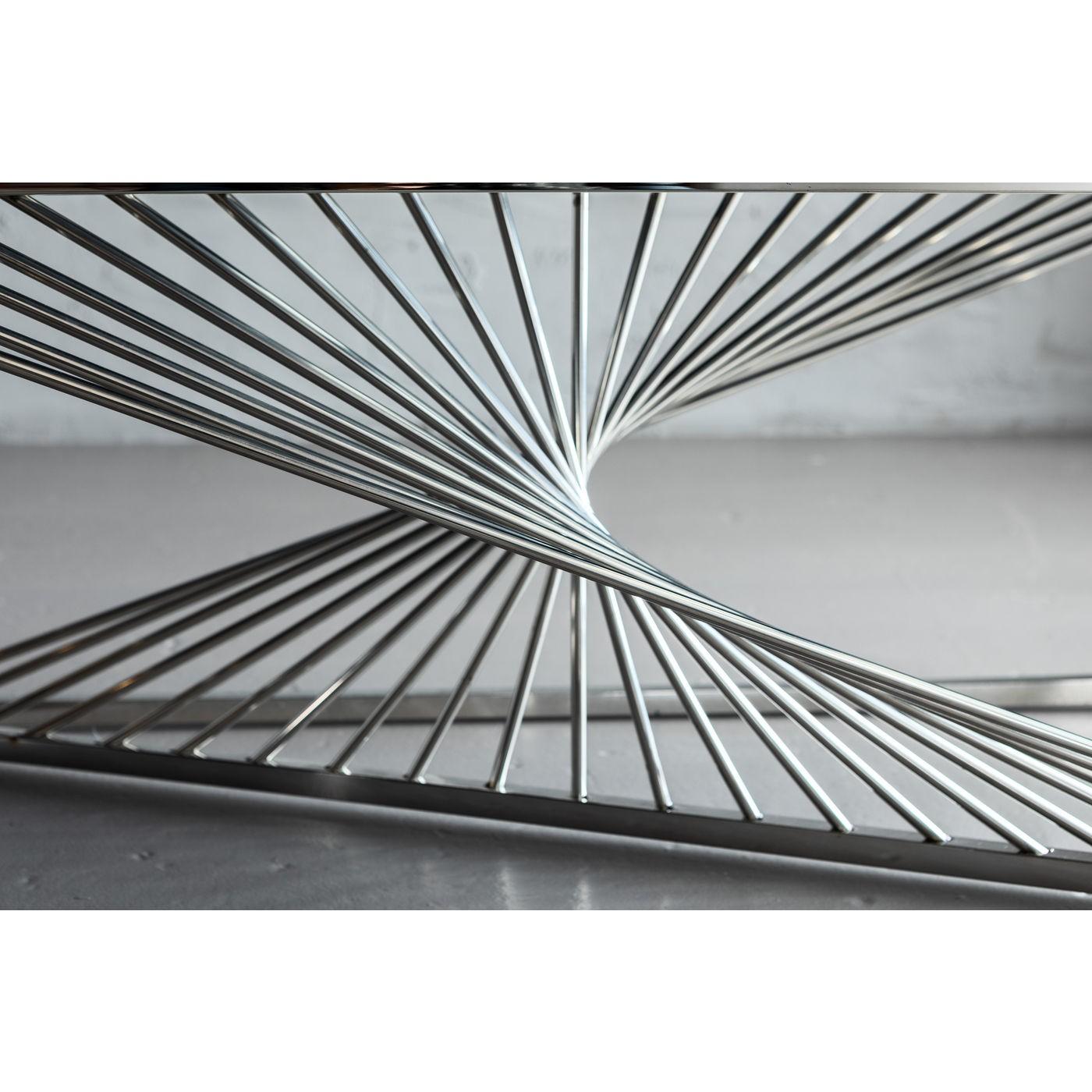 Table basse Laser 120x60cm chromée Kare Design