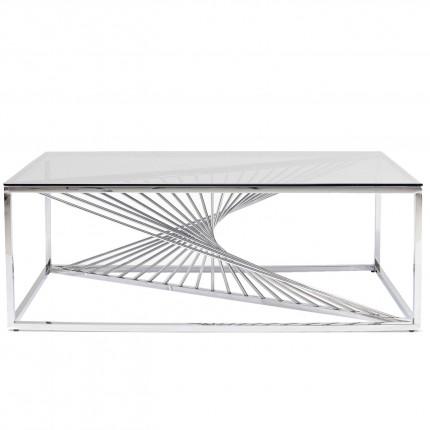 Table basse Laser chromée 120x60cm Kare Design