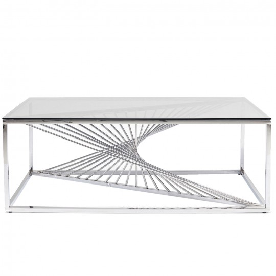 Table basse Laser chromée 120x60cm Kare Design