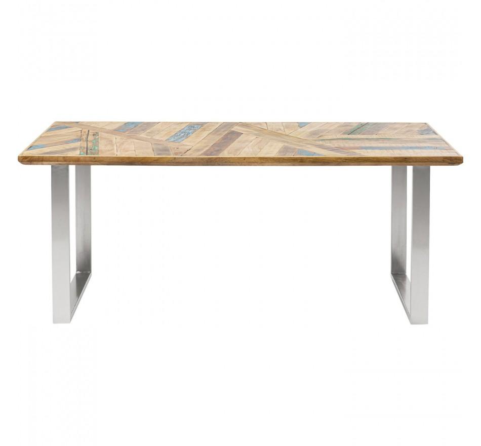 Table Abstract chromée 180x90cm Kare Design
