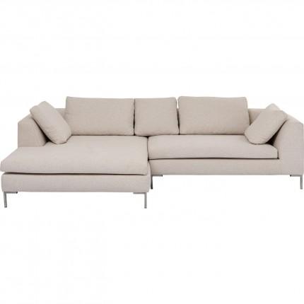 Canapé d'angle Gianna gauche velours crème Kare Design