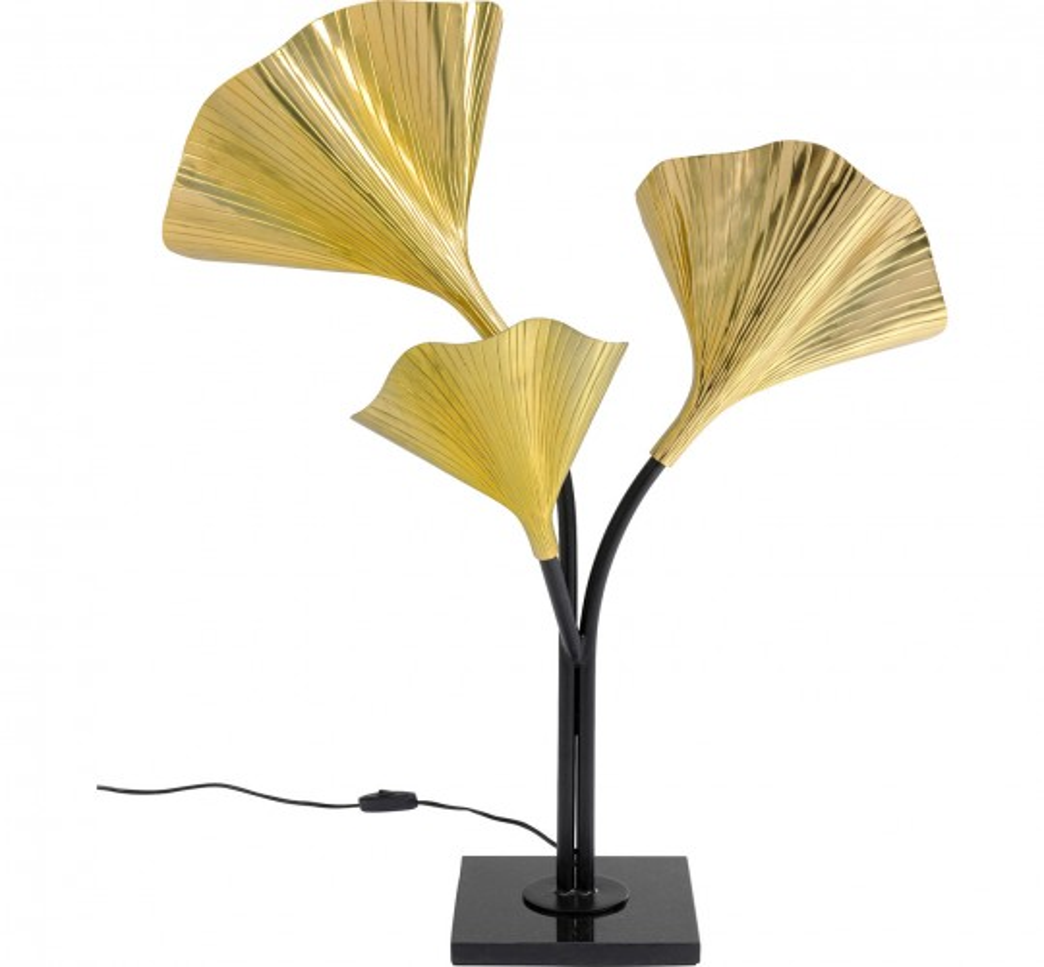 Lampadaire feuilles de ginkgo 83cm Kare Design