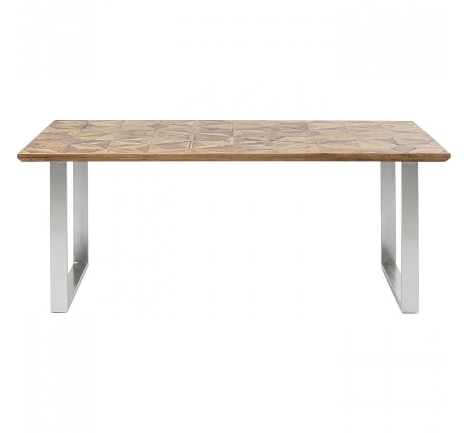 Table Stars chromée 180x90cm Kare Design
