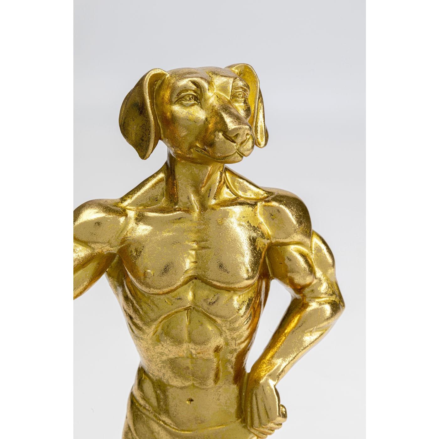 Déco chien musclé doré Kare Design