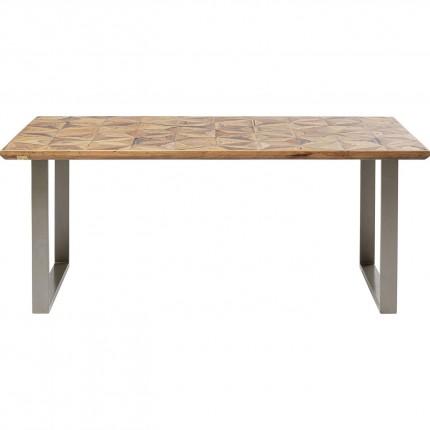 Table Stars argentée 180x90cm Kare Design