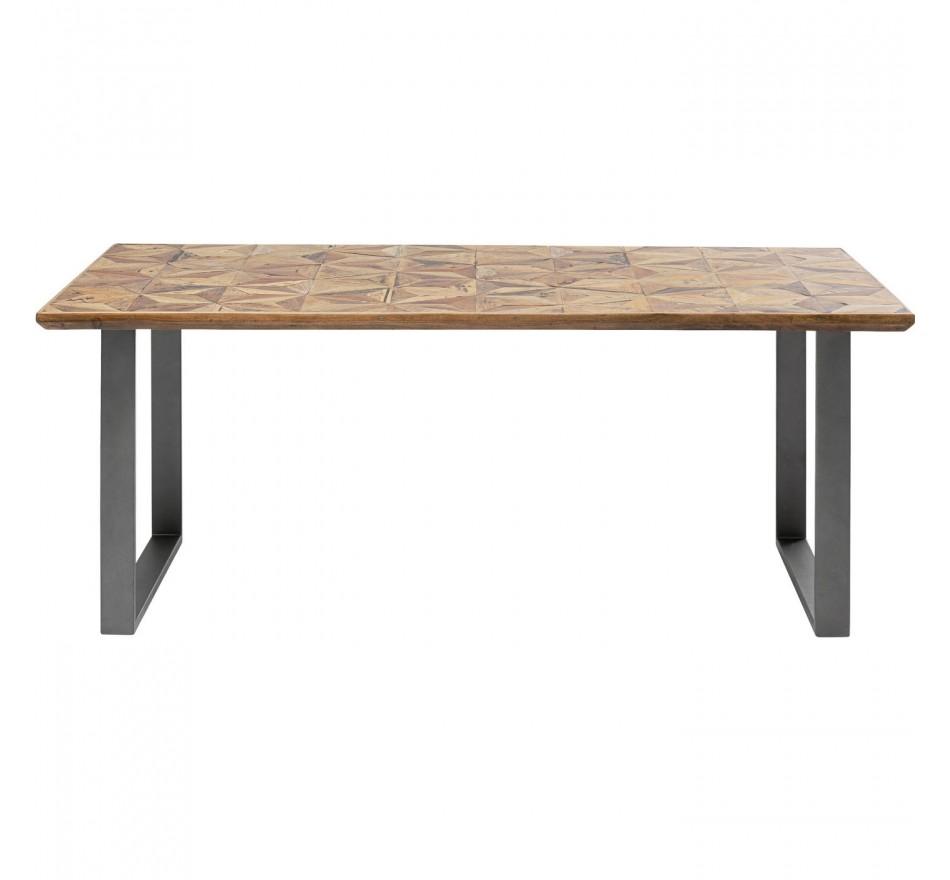 Table Stars acier 180x90cm Kare Design