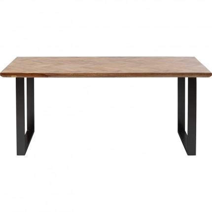 Table Parquet noire 180x90cm Kare Design