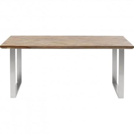 Table Parquet 180x90cm chrome Kare Design