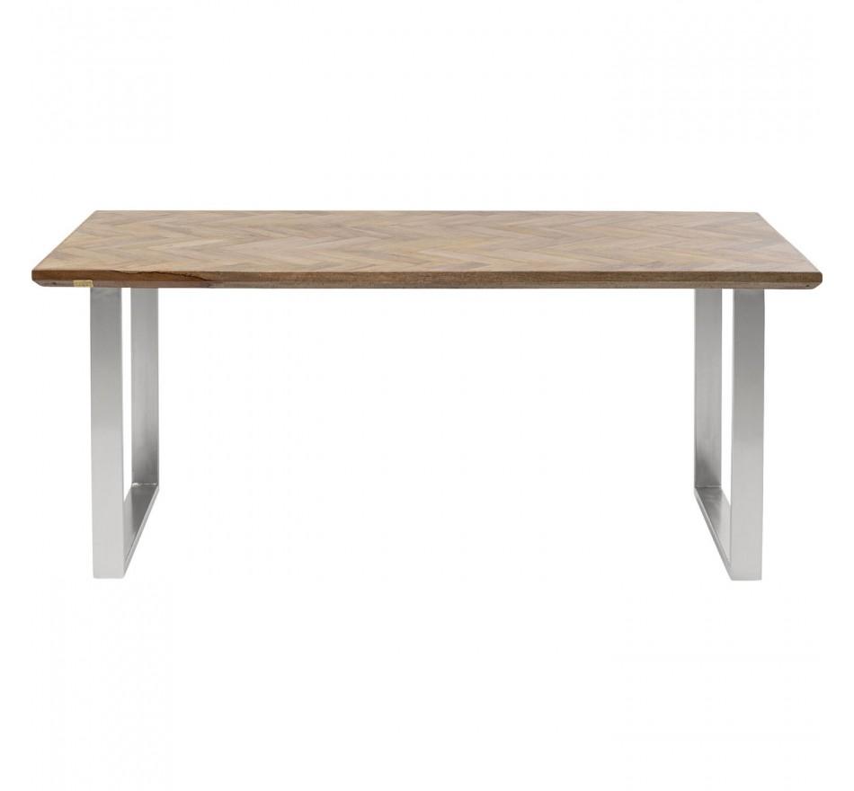 Table Parquet chromée 180x90cm Kare Design