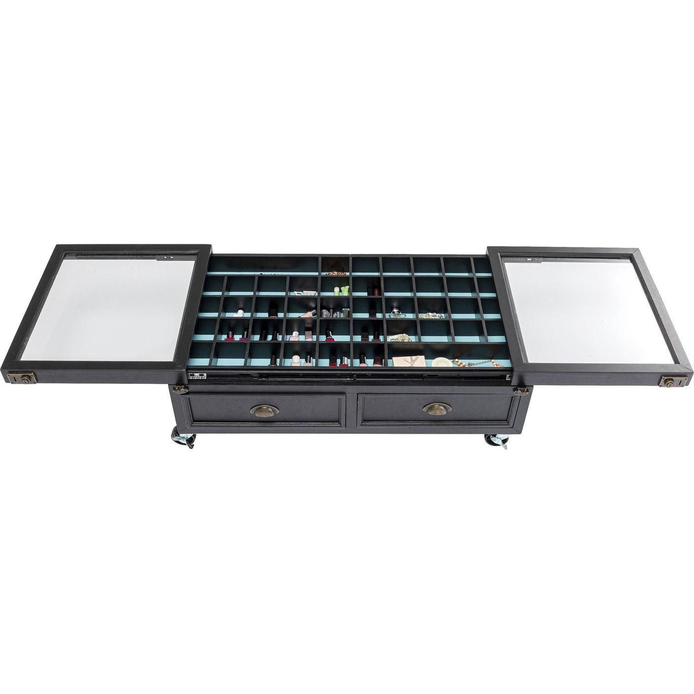 Table basse Collector Double 100x58cm noire Kare Design