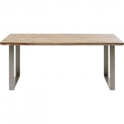 Table Parquet argentée 180x90cm Kare Design