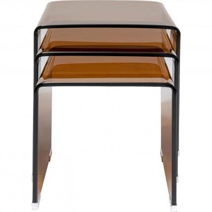 Tables d'appoint Visible Amber gigognes set de 3 Kare Design