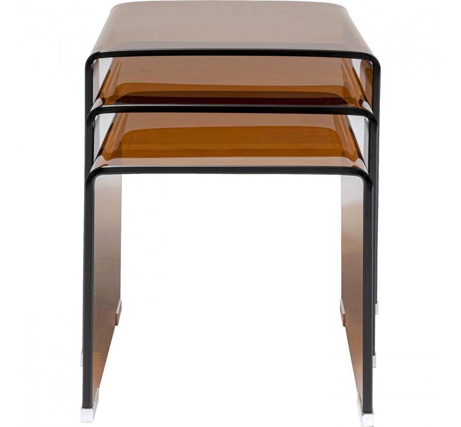 Tables d'appoint Visible Amber set de 3 Kare Design