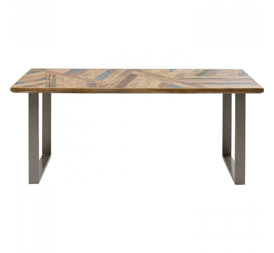Table Abstract argentée 180x90cm Kare Design