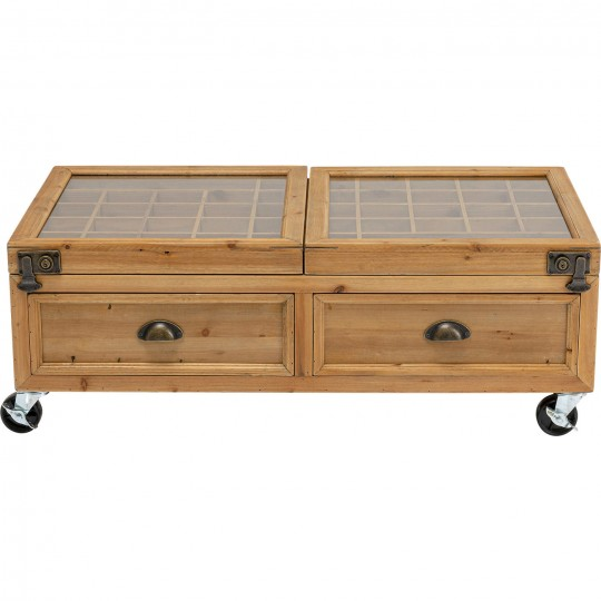 Table basse Collector Double nature 100x58cm Kare Design