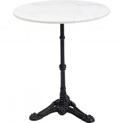 Table Bistrot ronde 60cm marbre blanc Kare Design