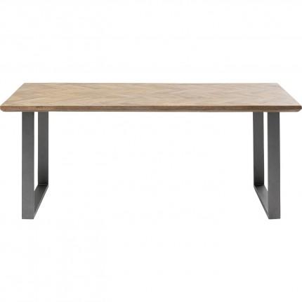 Table Parquet acier brut 180x90cm Kare Design