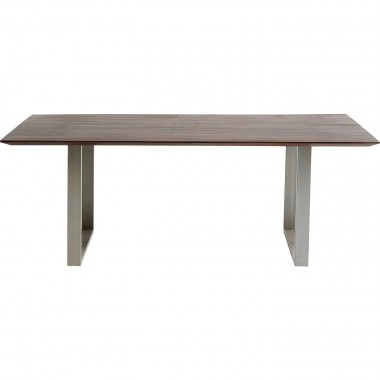 Table Symphony noyer argent 160x80cm Kare Design