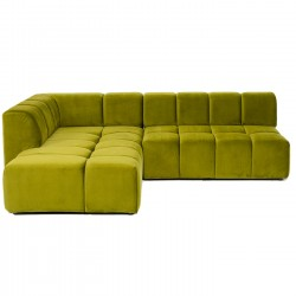 Canapé d'angle Belami gauche vert Kare Design
