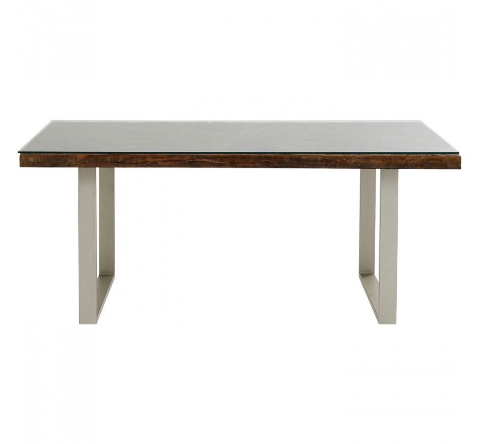 Table Conley pieds argentés 180x90cm Kare Design