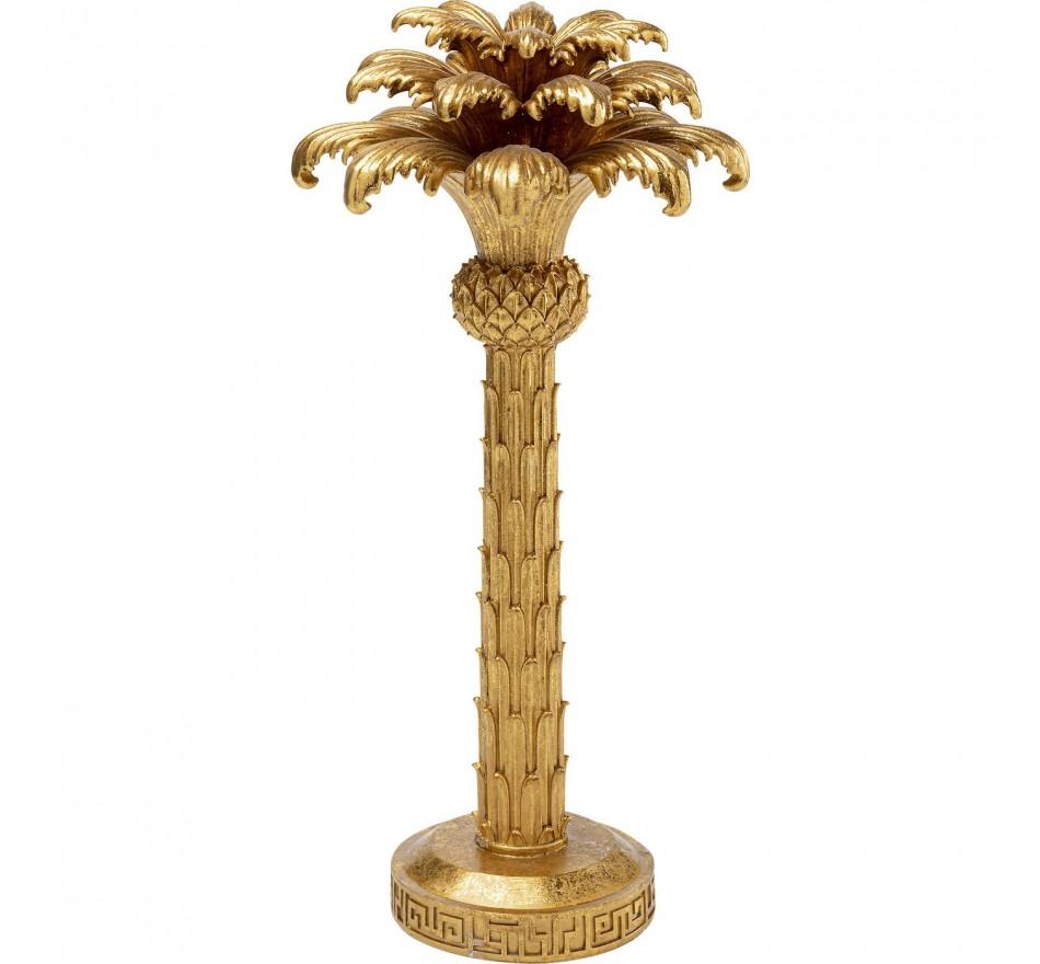 Bougeoir palmier doré 48cm Kare Design