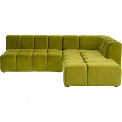 Canapé d'angle Belami droite vert Kare Design