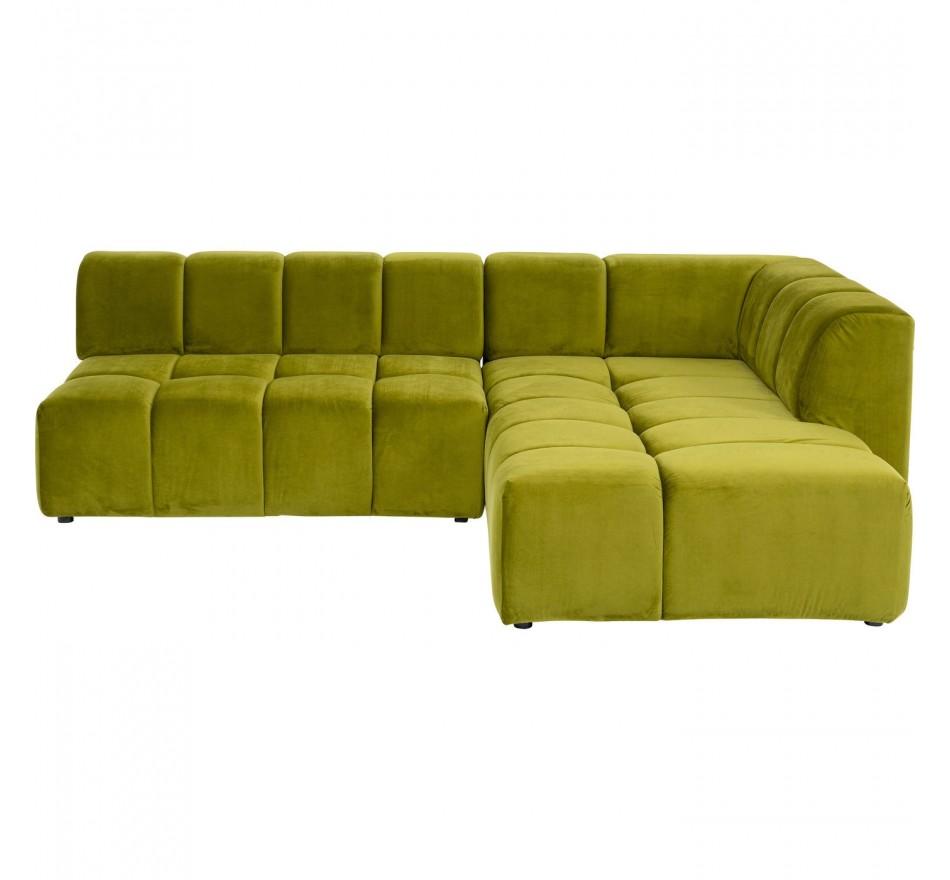 Canapé d'angle Belami vert droite Kare Design