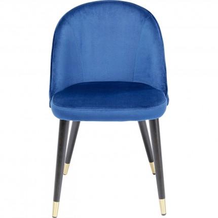 Chaise Luisa velours bleu Kare Design