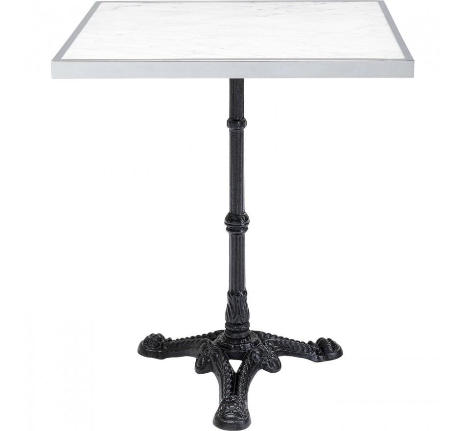 Table Bistrot marbre blanc carrée 60x60cm Kare Design