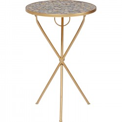 Table d'appoint Clack pebbles mosaïques 36cm Kare Design
