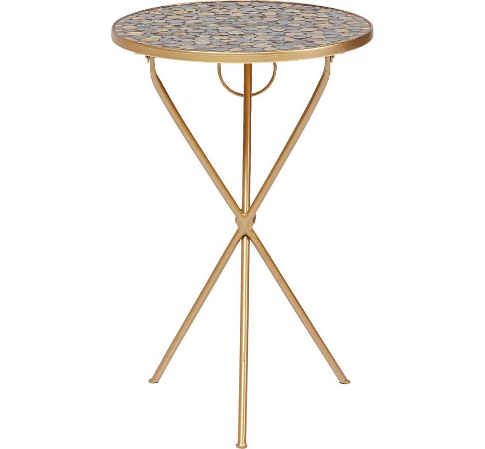Table d'appoint Clack pebbles mosaïques 36cm Kare Design