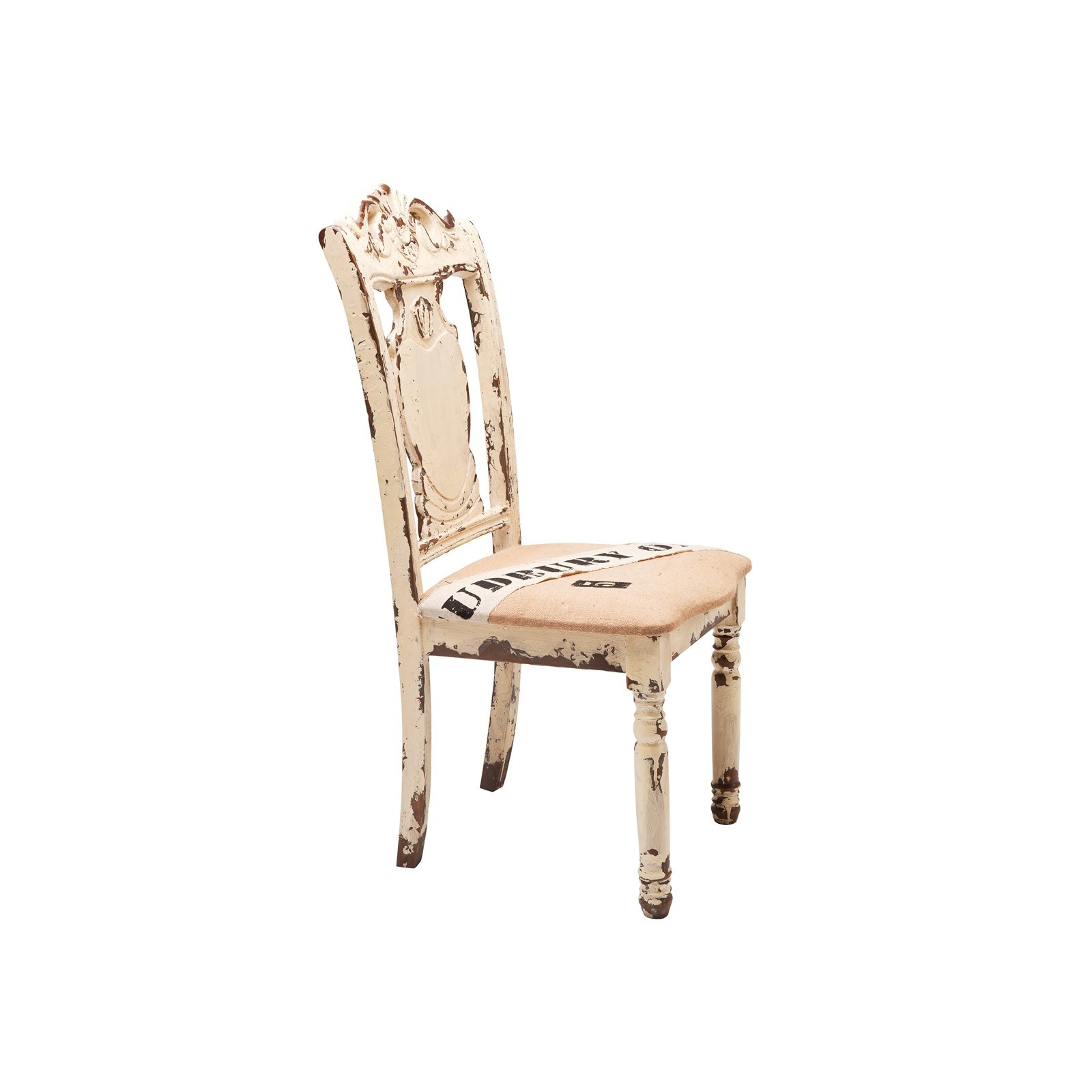 Chaise coloniale blanche harlem kare design for Chaise kare design
