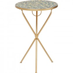 Table d'appoint Clack Rainbow mosaïques 36cm Kare Design